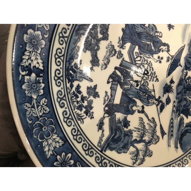 2010s Chinese Tozai Home Blue & White Bowl For Sale - Image 5 of 8
