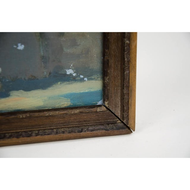 Late 19th Century Antique Classical Courtyard Signed Oil on Cardboard Painting For Sale In Atlanta - Image 6 of 8