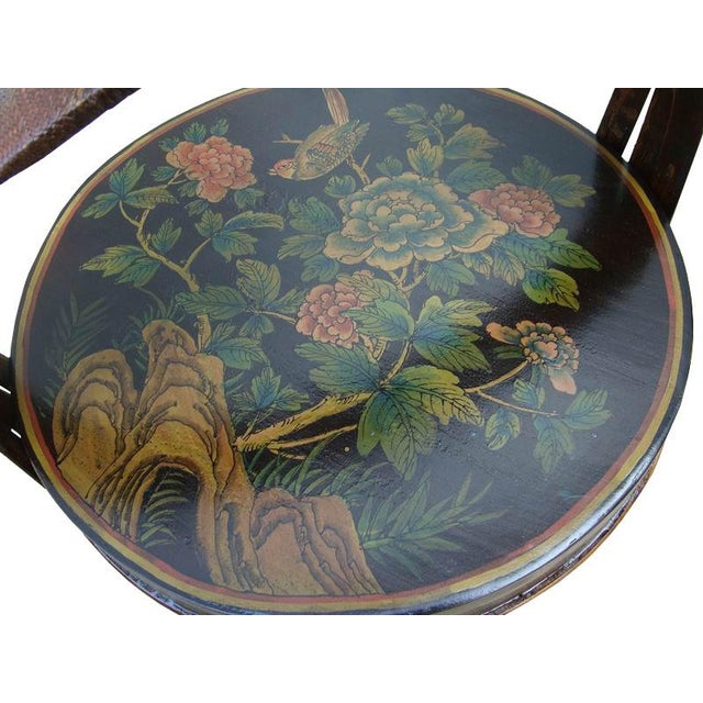 Chinese Bamboo Round Flower Wedding Basket For Sale - Image 5 of 5