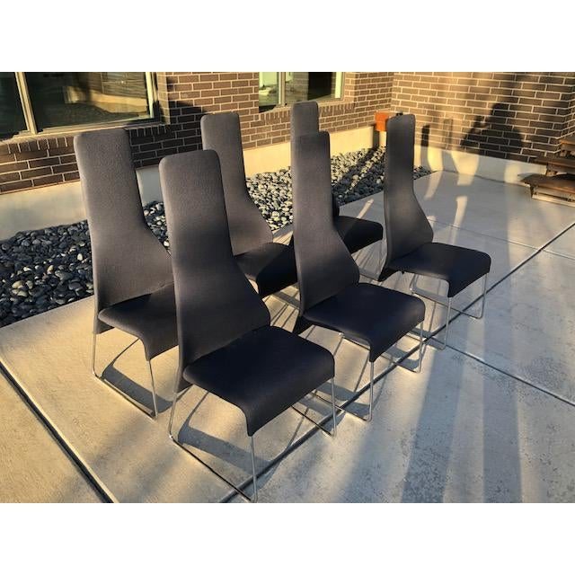 """Metal B&b Italia """"Lazy"""" Chairs - Set of 6 For Sale - Image 7 of 9"""