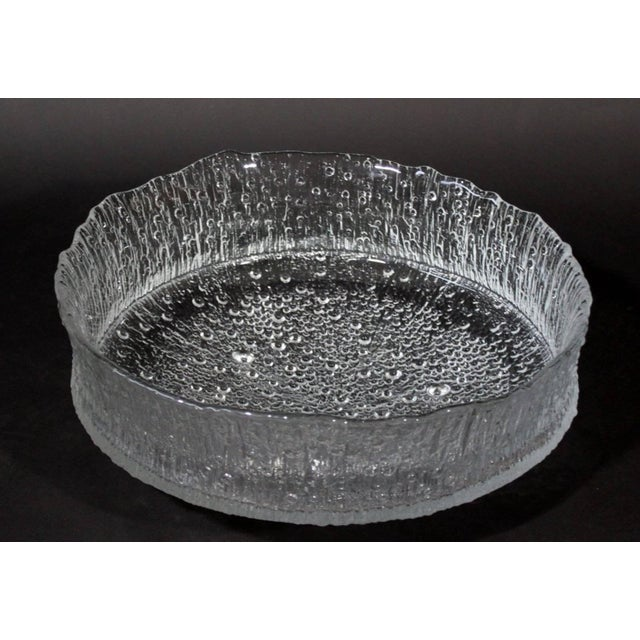 Mid-Century Modern Mid-Century Modern Rare Tapio Wirkkala Large Cast Glass Ice Dish Model 3442 For Sale - Image 3 of 9