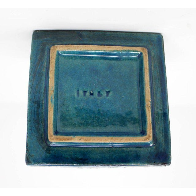 1960s Bitossi Ceramic Blue Ashtray For Sale In Sacramento - Image 6 of 10