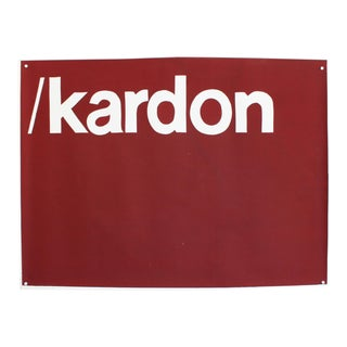Vintage Pop Art Silkscreen Test Print- Kardon Helvetica Text