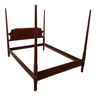 Statton Cherry Full Size Pencil Post Bedframe For Sale