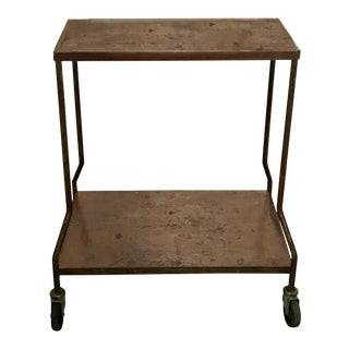 Vintage Industrial Wheeled Cart For Sale