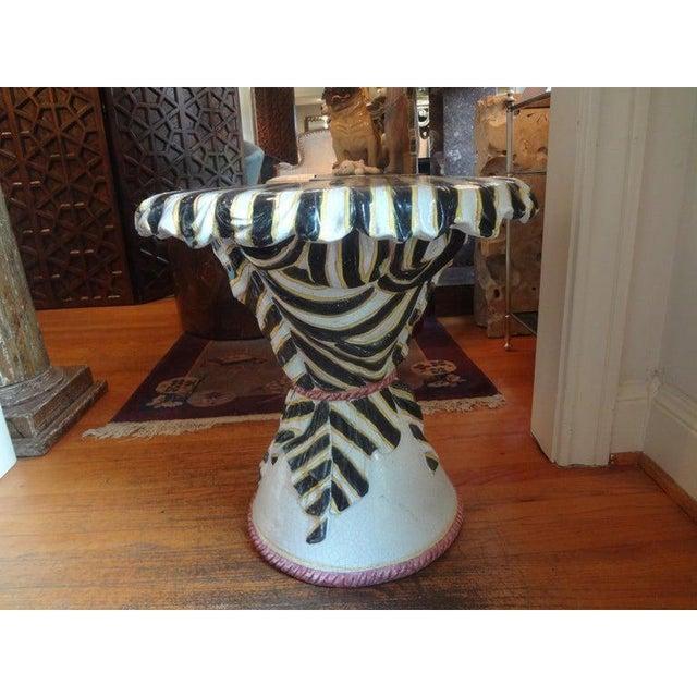 Ceramic Mid-Century Italian Glazed Terra Cotta Table For Sale - Image 7 of 12