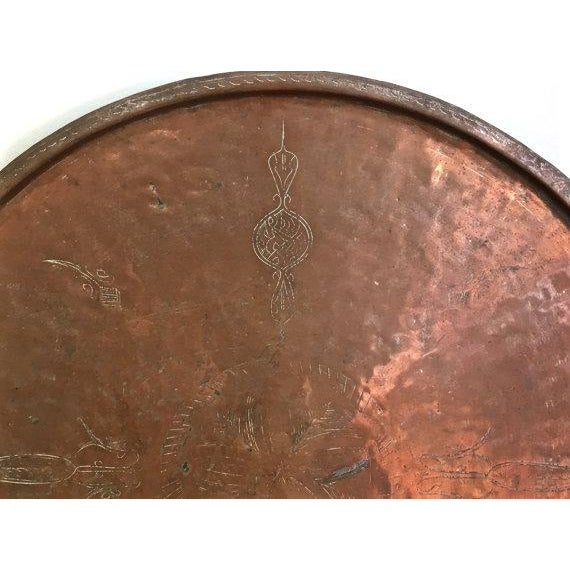 Vintage Rustic Copper Tray - Image 4 of 9