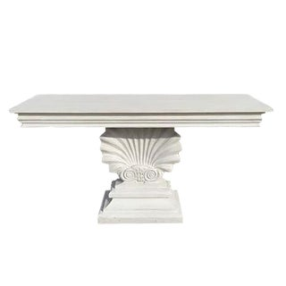 Regency White Shell Console Table For Sale