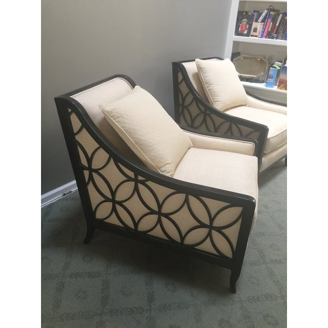 Perfect for casual conversation or lounging with a book, this elegant comfortable club chair makes an immediate impression...