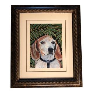 Beagle Dog Portrait Print by Judy Henn For Sale