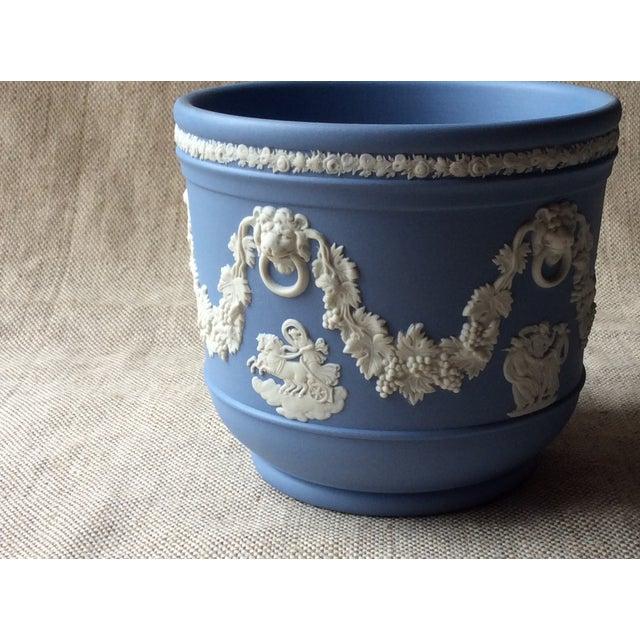 Figurative Wedgewood Blue Jasperware Cachepot For Sale - Image 3 of 10