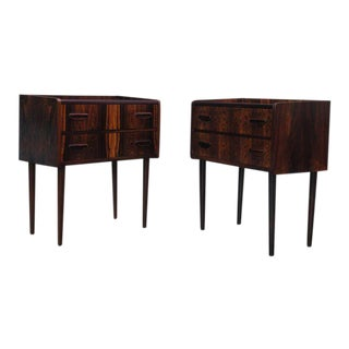 Danish Rosewood Side tables with Drawers