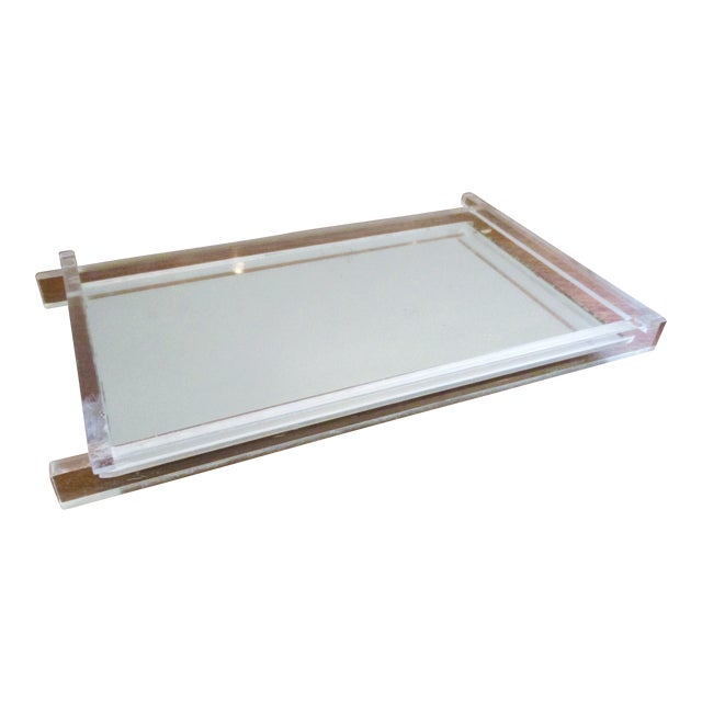 Art Deco Lucite & Mirrored Vanity Tray - Image 1 of 7
