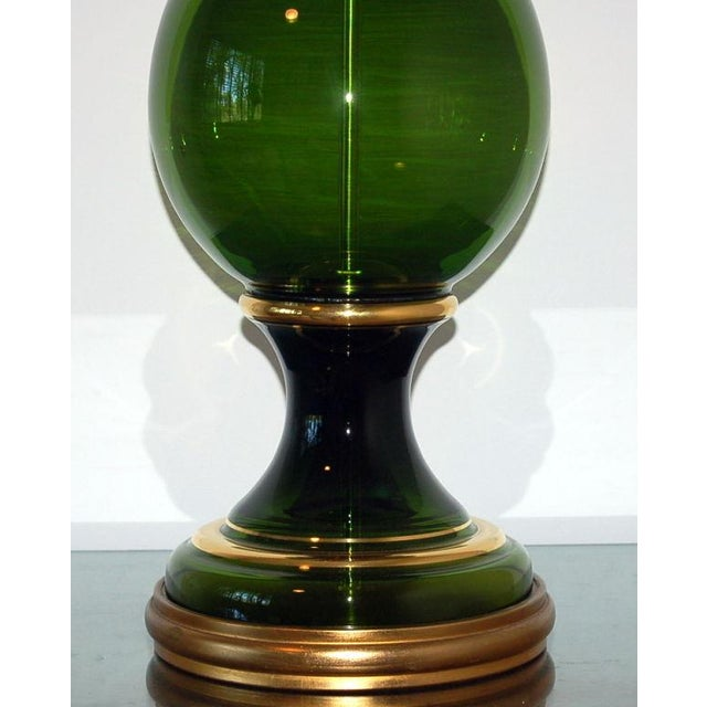 Marbro Murano Glass Table Lamp Green Large For Sale - Image 9 of 10