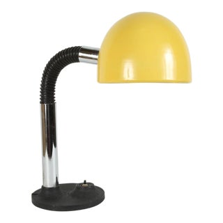 Modernist Enameled Yellow Desk Lamp For Sale
