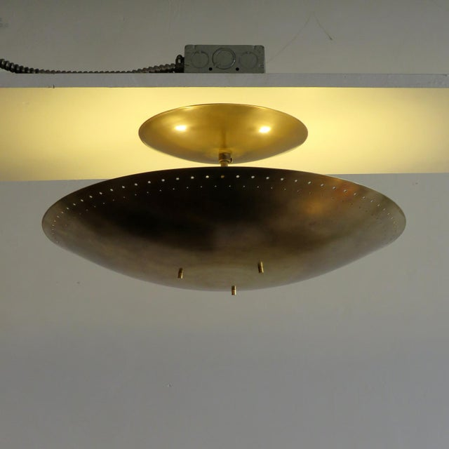 "Gold Gallery L7 ""Utah"" Ceiling Flush Mount For Sale - Image 8 of 11"