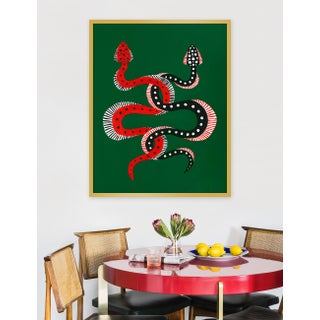 "Medium ""Sushi & Cheeseburger the Snakes"" Print by Willa Heart, 32"" X 40"" Preview"