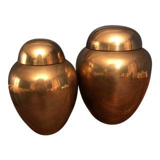 Brass Ginger Jars - A Pair