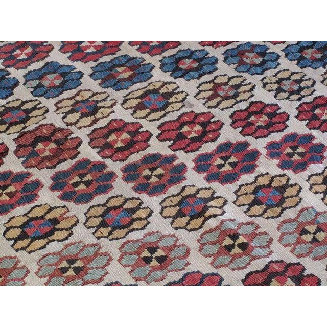 "Textile Antique Erzurum ""Flowers"" Kilim For Sale - Image 7 of 8"