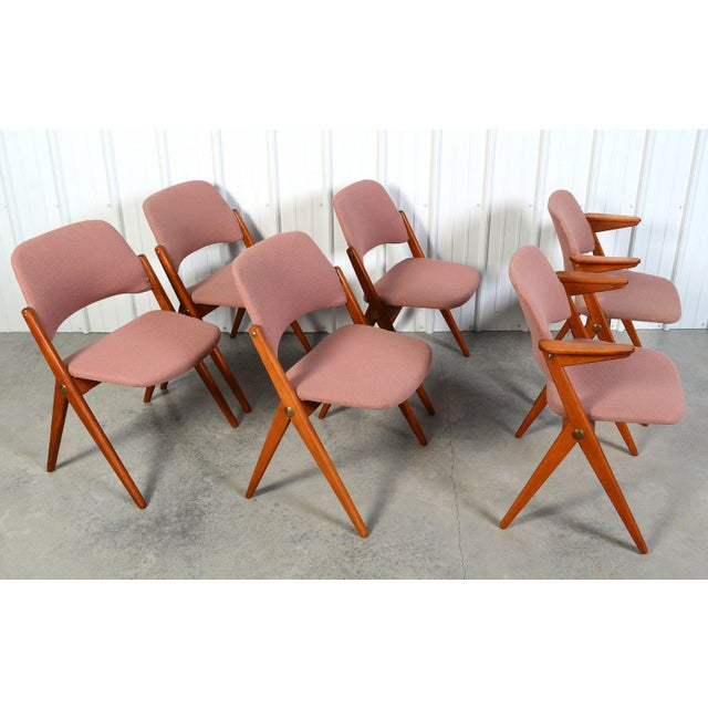 Danish Modern Bengt Ruda for Nordiska Kompaniets Triva Dining Chairs - Set of 6 For Sale - Image 3 of 6