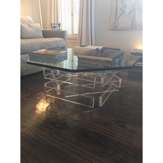 Lucite 'Brick' Coffee Table - Image 6 of 7