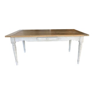 Gray Wash Farm Table by Hd Buttercup For Sale