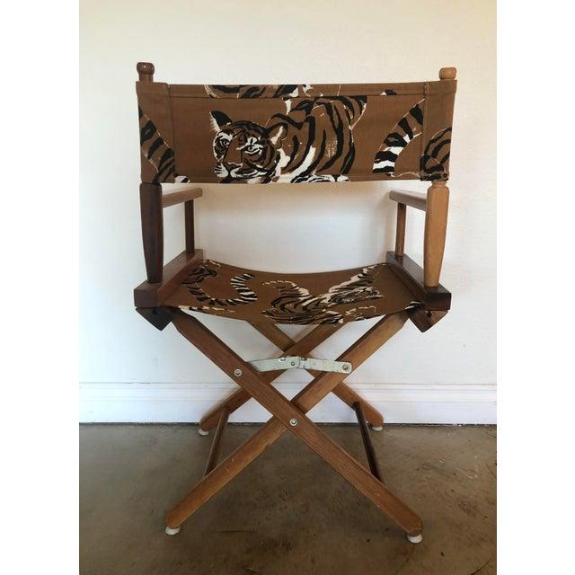 Cotton Le Tigre Directors Chair For Sale - Image 7 of 10