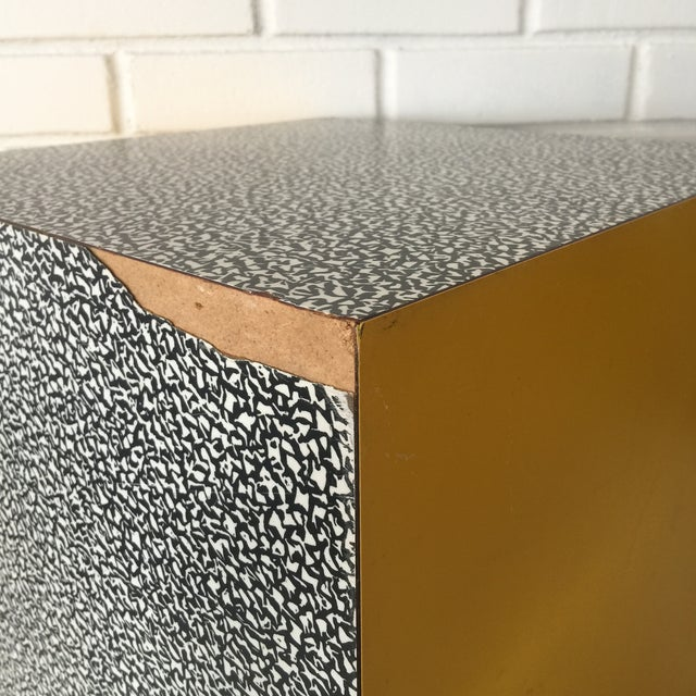 1980s Memphis Ettore Sottsass for Anthologie Quartetto Cube Table For Sale - Image 9 of 12