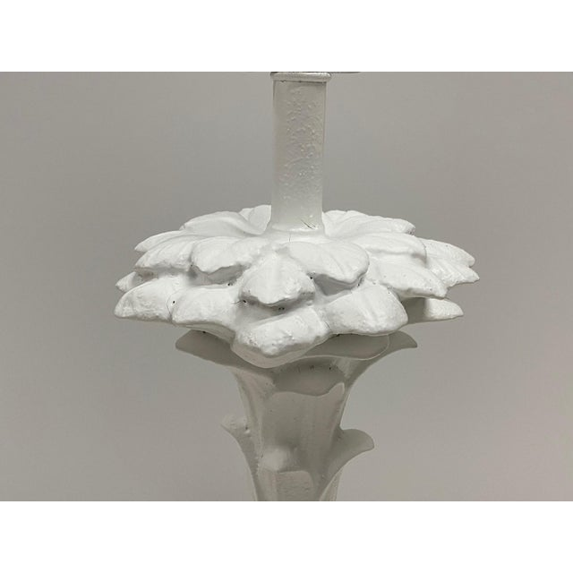 White Serge Roche Style Palm Motife Table Lamps For Sale - Image 8 of 12