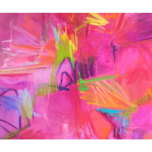 """""""Martini"""" Large Abstract Oil Painting by Trixie Pitts - Image 3 of 5"""