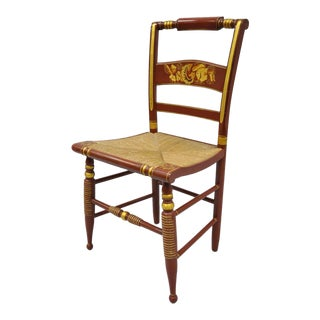 Vintage L. Hitchcock Style Side Chair For Sale