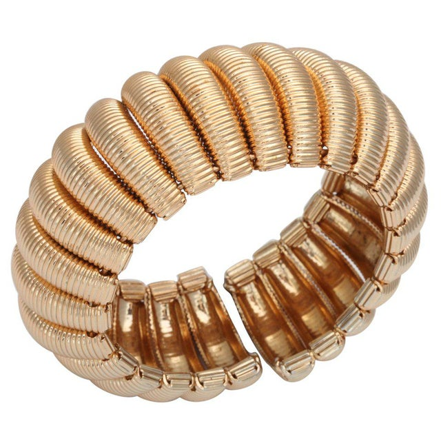 """Gold"" Segmented Cuff For Sale In New York - Image 6 of 6"