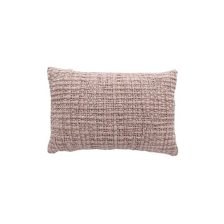 Rectangle Light Pink Pillow With Silk For Sale