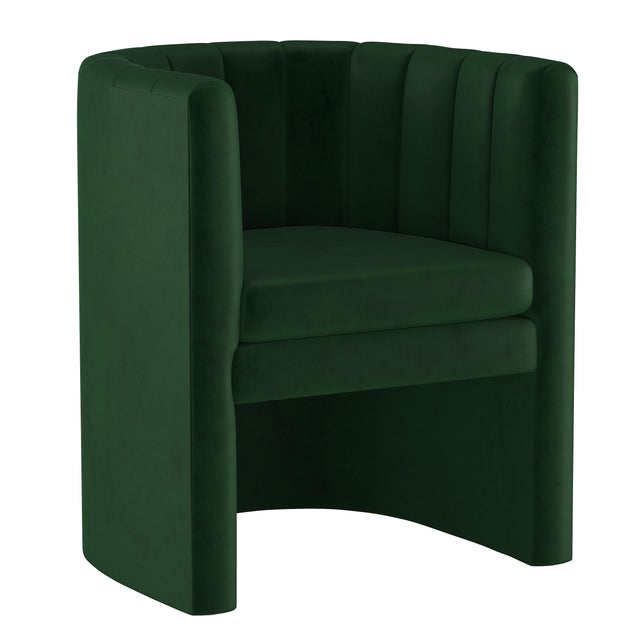 Textile Chair, Fauxmo Emerald For Sale - Image 7 of 7