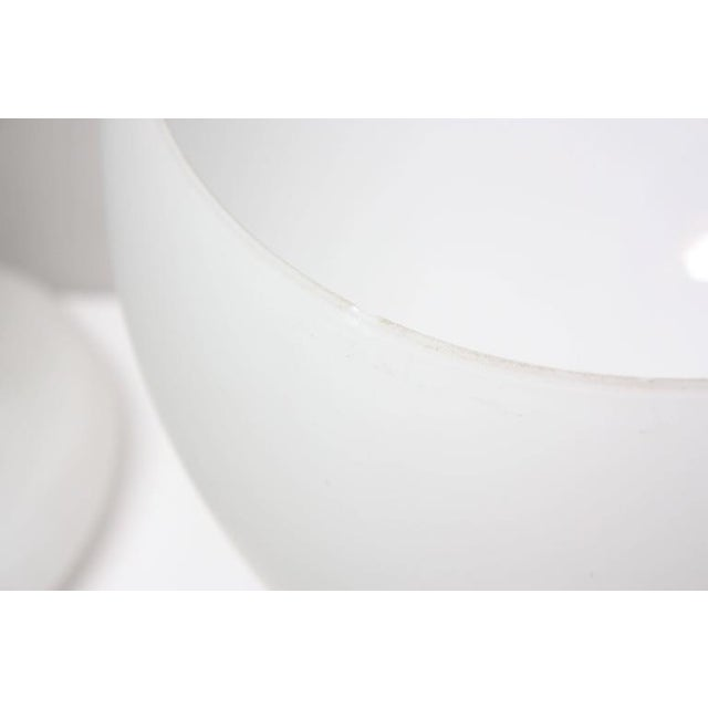 Substantial Mid-Century Italian Modern Cased and Frosted Glass Lamp - Image 7 of 10