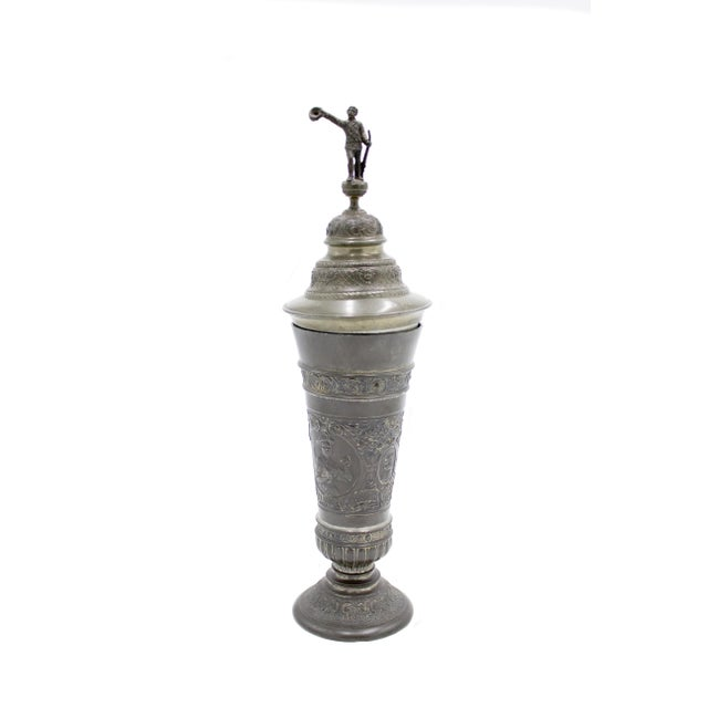Metal English Renaissance Style Pewter Chalice For Sale - Image 7 of 7