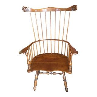Leopold Stickley Windsor Arm Chair Cherry Wood For Sale