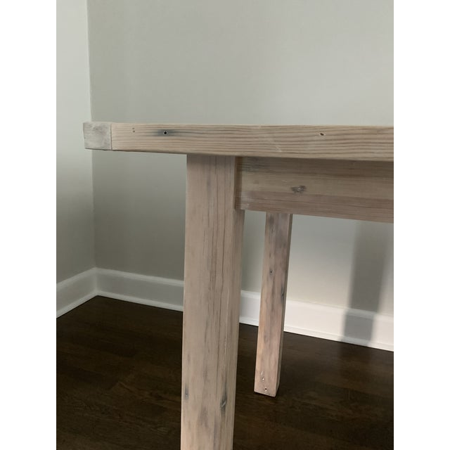 European Style Modern Farmhouse Reclaimed Wood Dining Table or XL Desk For Sale - Image 9 of 12