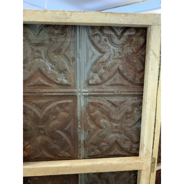 Early 21st Century Metal 3 Panel Screen For Sale - Image 5 of 6