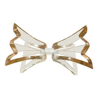 1970s Mid Century Modern jButterfly Style Lucite Table Base For Sale