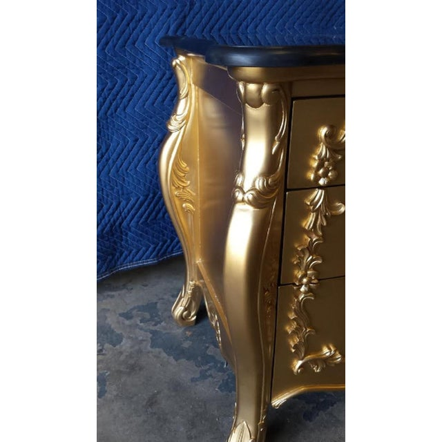 Gold French Louis XV Nightstands - Pair - Image 6 of 6