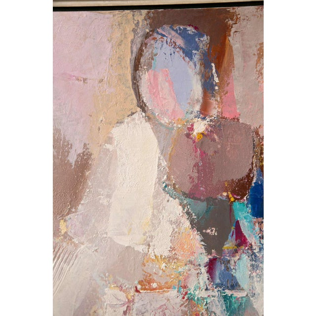 Abstract Abstract Pastel Painting by O. Ventura For Sale - Image 3 of 6