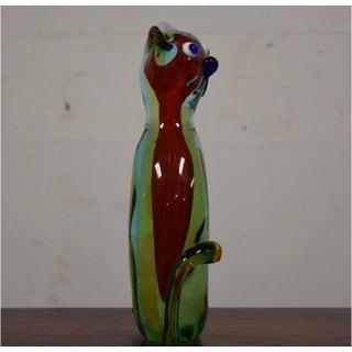 Italian Modern Murano Glass Cat Preview