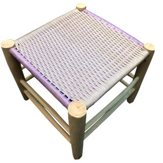 Modern Moroccan Lilac Stool For Sale