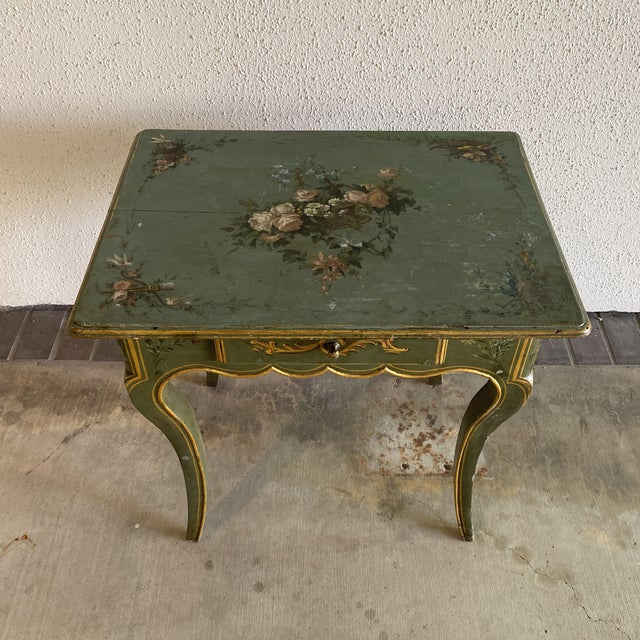 Asparagus 19th Century Hand Painted Side Table For Sale - Image 8 of 9
