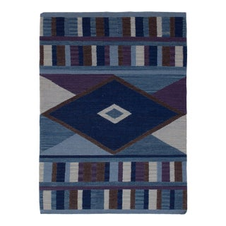 Turkish Handwoven Southwestern Style Kilim Rug - 4′ × 6′ For Sale