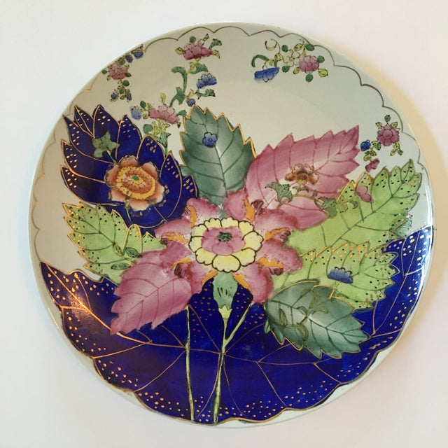 Vintage Hand Painted Tobacco Leaf Decorative Plate For Sale - Image 13 of 13