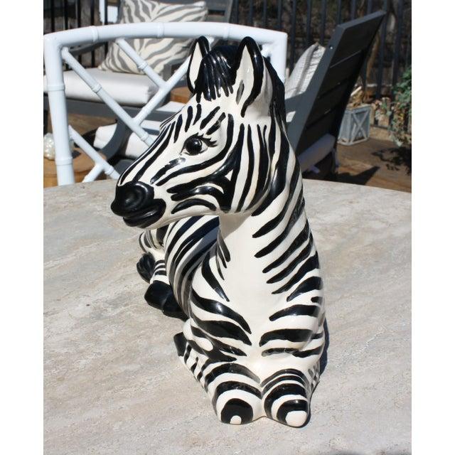 Vintage Mid-Century Modern Ceramic Zebra - Image 6 of 8