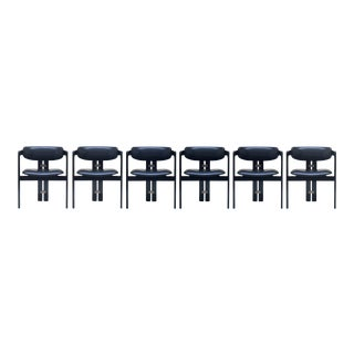"Set of 6 ""Pamplona"" Chairs by Augusto Savini for Pozzi 1968"