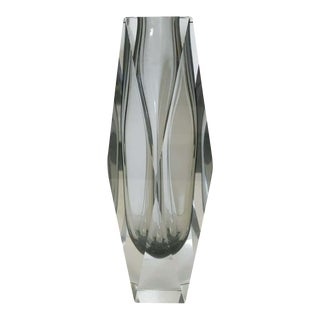 Smoky Sommerso Vase by Mandruzzato For Sale
